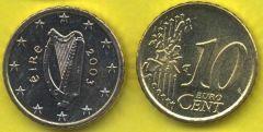 Irlanda 10 cent 2002 - 2006