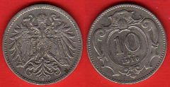 Austria 10 Heller 1892 - 1911