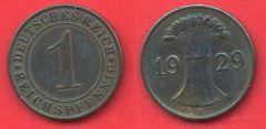1 Reichspfennig Repubblica di Weimar