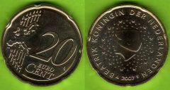 Paesi Bassi 20 cent 2007 - ....