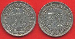 50 Pfennig Repubblica di Weimar (1927 - 1938)