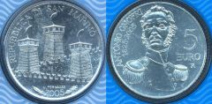 San Marino 5 euro Argento 2005 (Antonio Onofri)