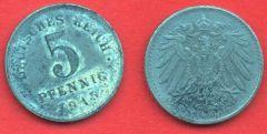 5 Pfennig Impero Tedesco (1915 - 1922)