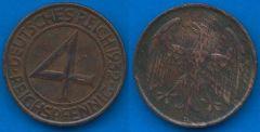 4 Reichpfennig Repubblica di Weimar