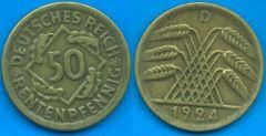 50 Rentenpfennig Repubblica di Weimar