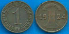 1 Rentenpfennig Repubblica di Weimar