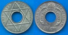 British West Africa 1/10 penny 1912-1936