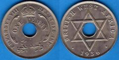 British west Africa 1 Penny 1936