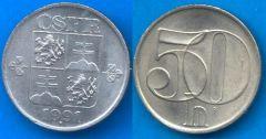 Repubblica Cecoslovacca (1990-1992) 50 Heller 1991-1992