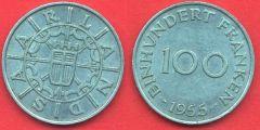 Saarland 100 Franken