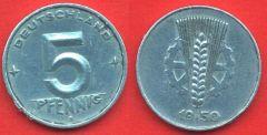 5 Pfennig DDR 1948 - 1950