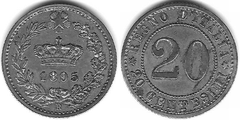 20 Centesimi Corona Reale