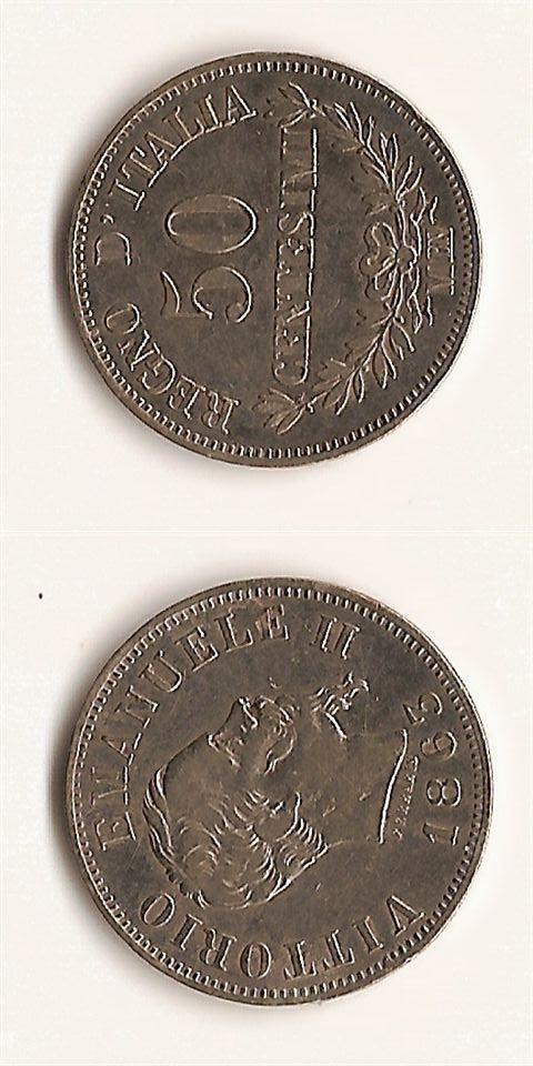 50 centesimi Valore - Vittorio Emanuele II