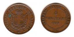 5 Centesimi Vittorio Emanuele Re Eletto