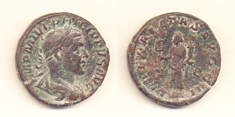 Filippo I padre - Sesterzio