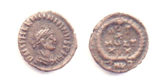 Valentiniano II - Bronzo Ø14