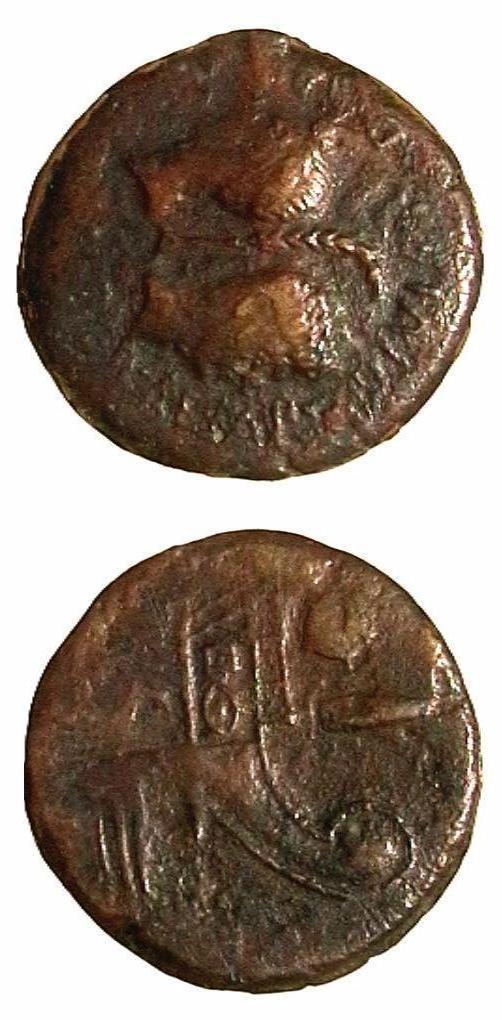 Giulio Cesare e Ottavio - Bronzo Ø32