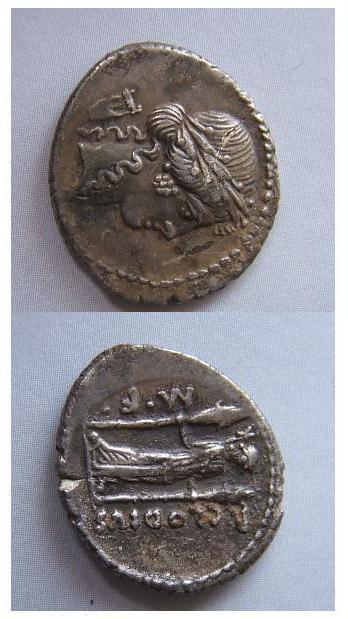 Publius Clodius M.F.Turrinus 42 a.C. (Claudia 15)