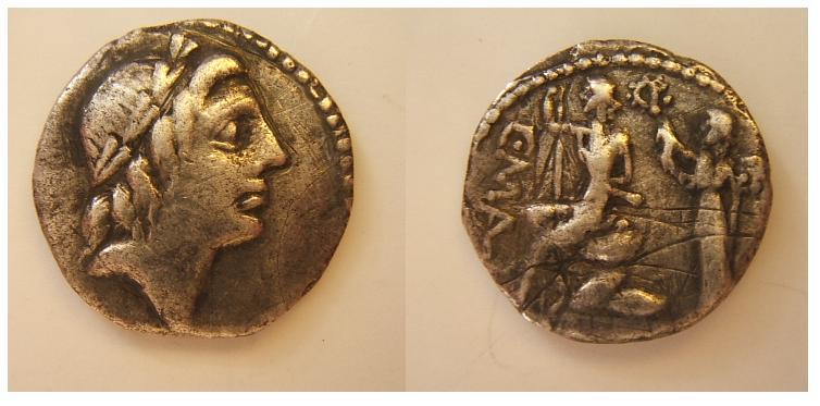 Caivs Poblicivs malleolvs  96 a.C.   (Poblicia 4)