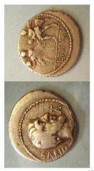 Lvcivs titvrivs - l.F. Sabinvs 89 a.C. (Tituria 2)