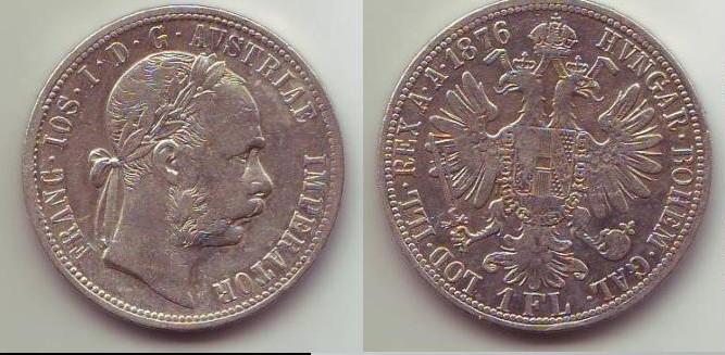 1 Fiorino austria-ungheria Francesco Giuseppe sec. tipo