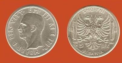 5 lek Albania V.E. III