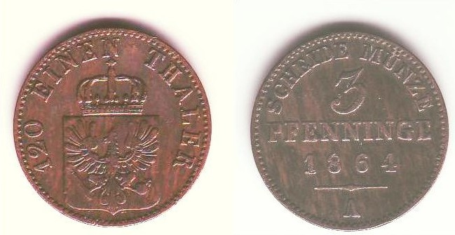 3 pfenning prussia