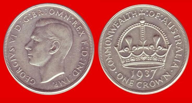 1 corona australia 1937
