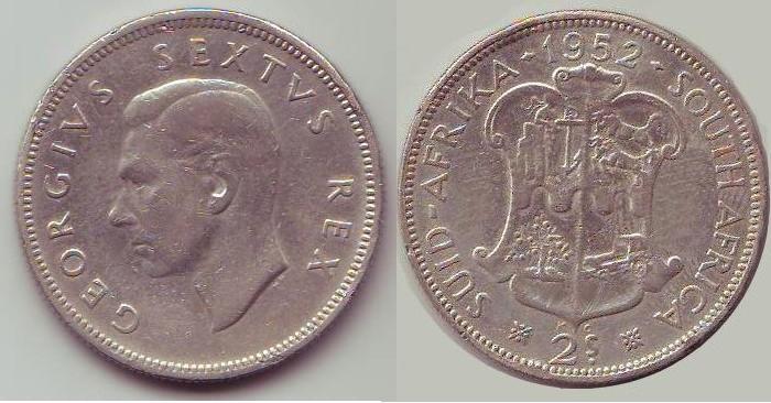 Fiorino Sudafrica Giorgio VI re, secondo tipo