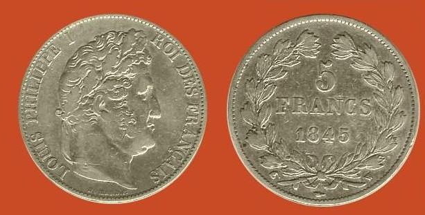 5 franchi Luigi Filippo I