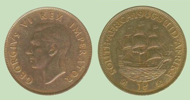 penny Sudafrica Giorgio VI imp