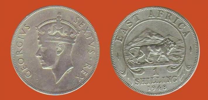 scellino Africa Orientale Britannica Giorgio VI re