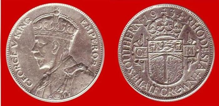 mezza corona Rhodesia meridionale Giorgio V