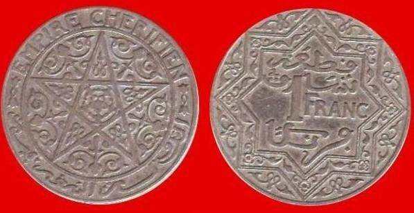 1 franco Marocco prot. francese