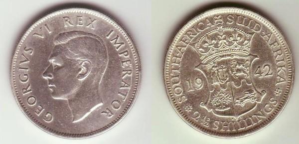 mezza corona Sudafrica Giorgio VI imp.