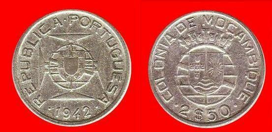 2,5 escudos Mozambico portoghese (secondo tipo)