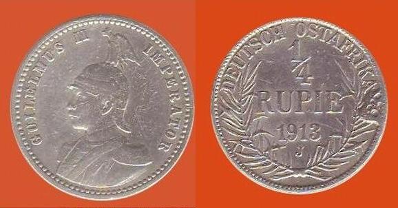 quarto di rupia, Africa Or. Tedesca (ora Tanzania)