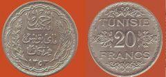 20 Franchi Tunisia protettorato francese