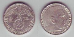 2 marchi terzo reich - tipo con svastica
