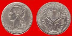 5 franchi Somalia francese (Djibuti)