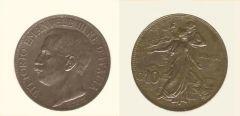 10 centesimi commemorativi 50° unità d'Italia