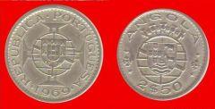 2,5 escudos Angola portoghese