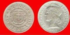 50 centavos Angola portoghese