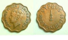 Cipro (1925 - 1959) Mezza piastra Cipro per Giorgio VI - secondo tipo
