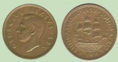 penny Sudafrica Giorgio VI re