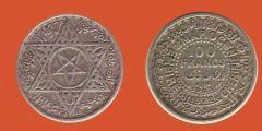 100 franchi Marocco protett. francese