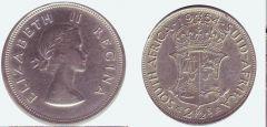 mezza corona Sudafrica Elisabetta II