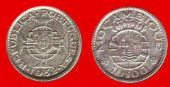10 escudos Mozambico portoghese