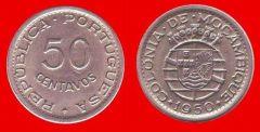 50 centavos Mozambico portoghese, terzo tipo