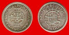 5 escudos Mozambico portoghese, terzo tipo